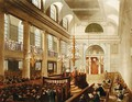 Synagogue, Dukes Place, Houndsditch, from Ackermann's 'Microcosm of London, engraved by Sunderland, 1809 - & Pugin, A.C. Rowlandson, T.