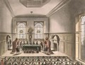 Coopers Hall, Lottery Drawing, from Ackermanns Microcosm of London - & Pugin, A.C. Rowlandson, T.