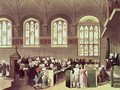 The Court of Chancery, Lincolns Inn Fields, 1808 from Ackermanns Microcosm of London - & Pugin, A.C. Rowlandson, T.