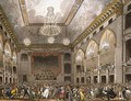 Pantheon Masquerade from Ackermanns Microcosm of London, engraved by John Bluck fl.1791-1831 published 1800 - & Pugin, A.C. Rowlandson, T.