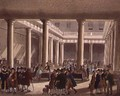 The Corn Exchange from Ackermanns Microcosm of London 1808 - & Pugin, A.C. Rowlandson, T.