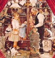 April Fools with the Shopkeeper - Norman Rockwell