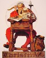 Santa at his Desk - Norman Rockwell