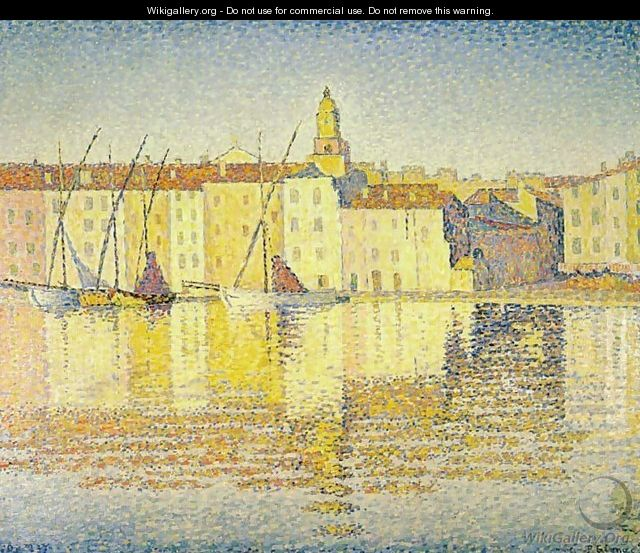 Houses in the Port of Saint-Tropez - Paul Signac
