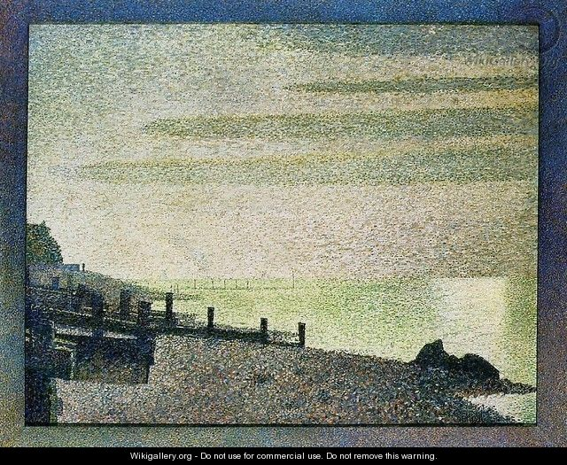 Evening at Honfleur - Georges Seurat