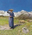 Noon in the Alps - Giovanni Segantini