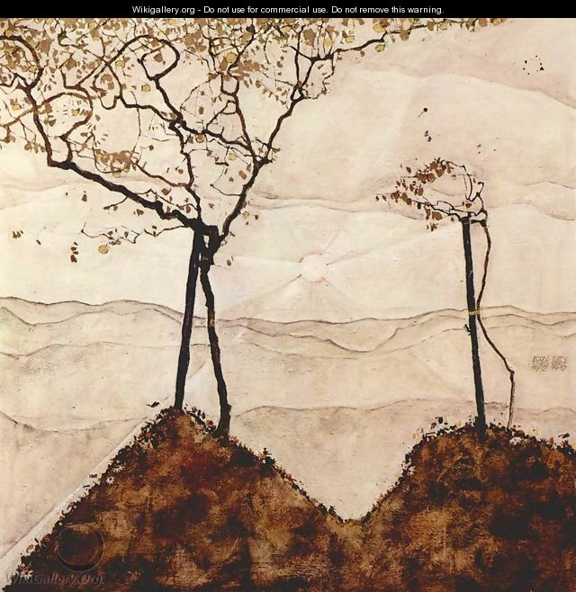 Autumn Sun and Trees - Egon Schiele