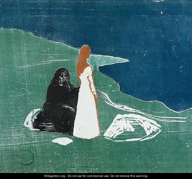 Two Women at the Beach - Edvard Munch