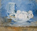 White Flowers in a Bowl - Berthe Morisot