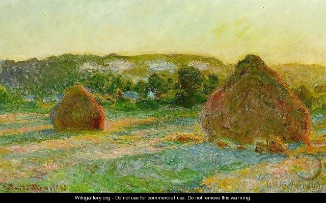 Wheatstacks - Claude Oscar Monet