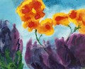 Gardenflowers with Violet and and Yellow Buds - Emil Nolde
