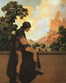 The Knave Watching Violetta Depart - Maxfield Parrish