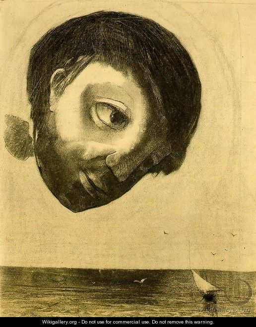 Guardian Spirit of the Waters - Odilon Redon
