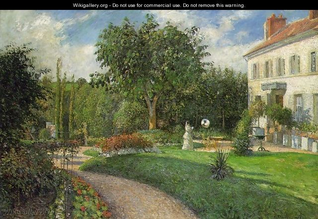 The Garden of les Mathurins at Pontoise - Camille Pissarro
