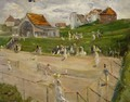 Tennis Court with Players - Max Liebermann