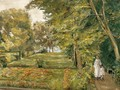 The ArtistŽs Granddaughter with her Governess in the Wannsee Garden - Max Liebermann