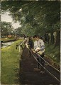 The Ropewalk in Edam - Max Liebermann