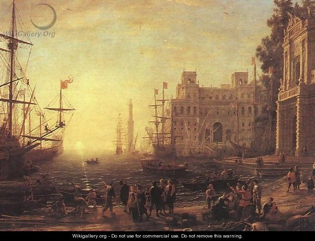 Port with Villa Medici - Claude Lorrain (Gellee)