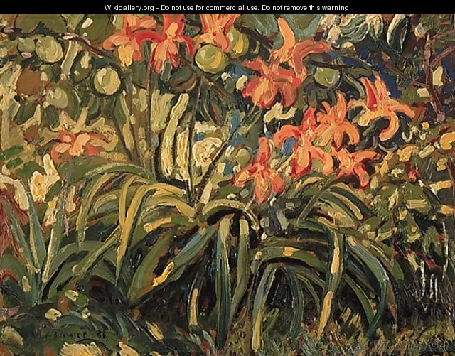 Lilies and Apples - Arthur Lismer
