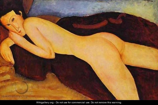 Reclining Nude from the Back - Amedeo Modigliani