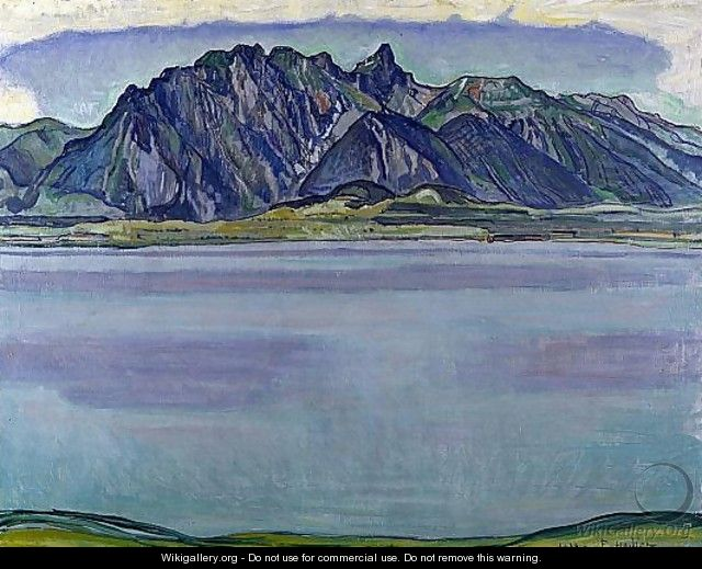Lake Thun and the Stockhorn Mountains - Ferdinand Hodler