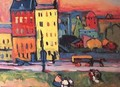 Houses in Munich - Wassily Kandinsky