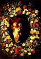 Madonna and Child Wreathed with Flowers - Jacob Jordaens
