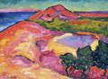 Coast Scene with Red Hill - Alexei Jawlensky