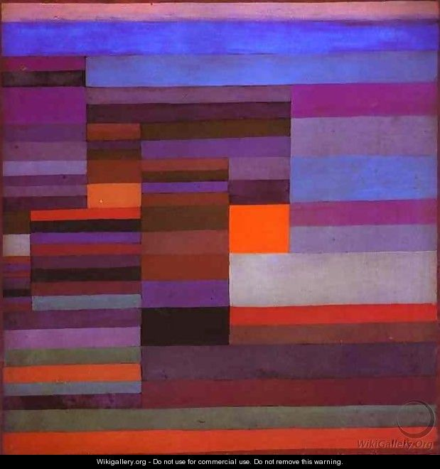 Fire in the Evening - Paul Klee