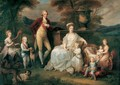 Ferdinand IV, King of Naples, and his Family - Angelica Kauffmann