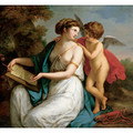 Sappho Inspired by Love - Angelica Kauffmann