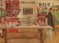Getting Ready for a Game of Cards - Carl Larsson