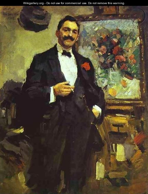 Portrait of the Hungarian Artist Jozef Ripple-Ronai - Konstantin Alexeievitch Korovin