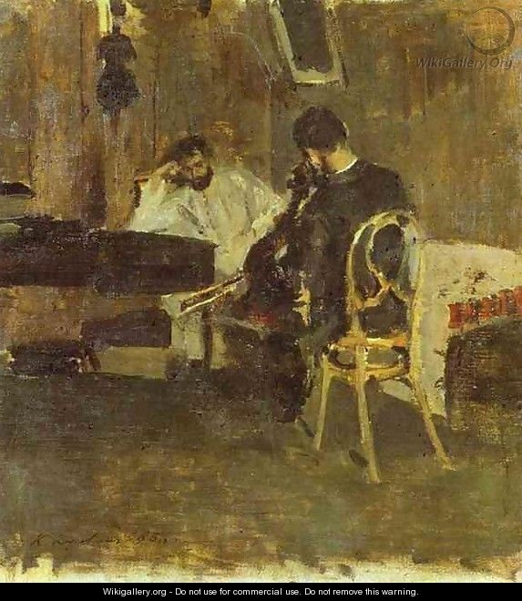 In a Room - Konstantin Alexeievitch Korovin