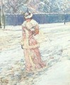 Lady in Pink - Childe Hassam