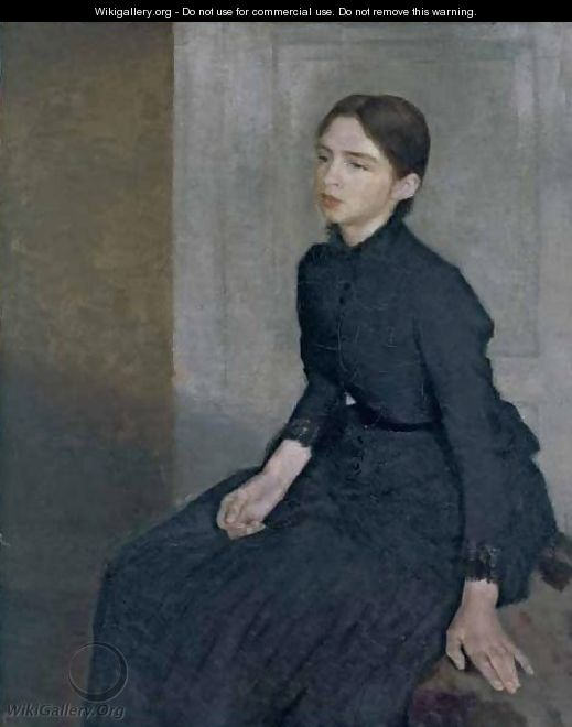 Portrait of a Young Woman - Vilhelm Hammershoi