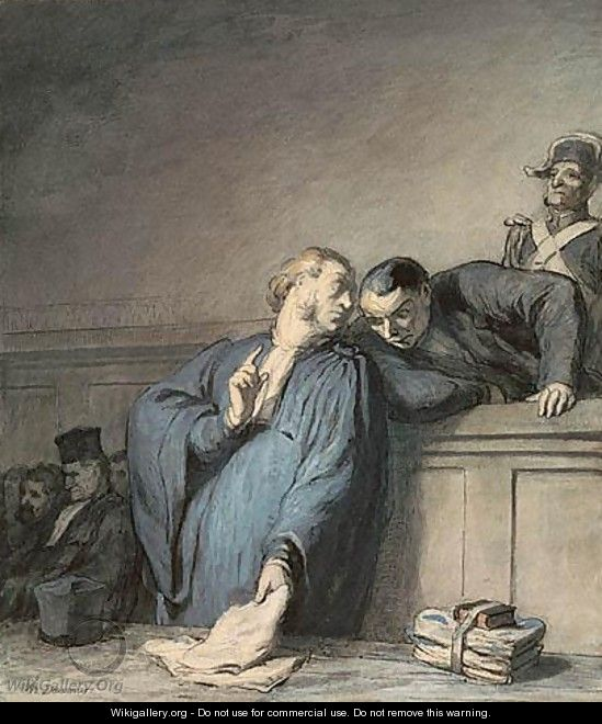 A Criminal Case - Honoré Daumier