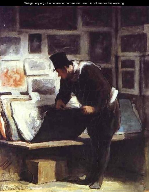 The Collector of Engravings - Honoré Daumier