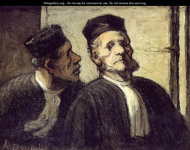 The Two Lawyers - Honoré Daumier