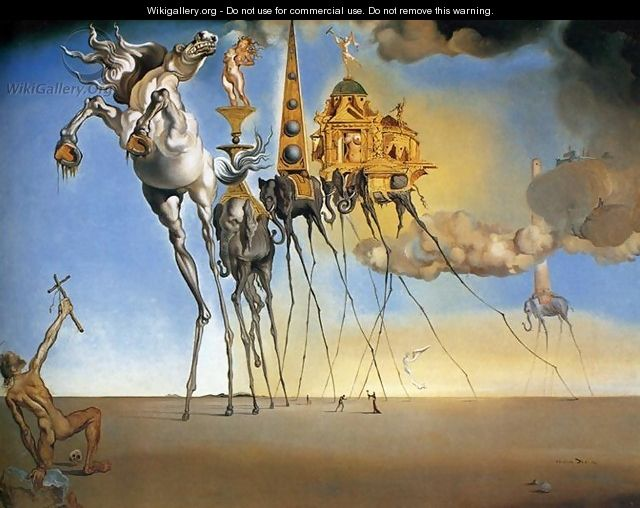 The Temptation of Saint Anthony - Salvador Dali