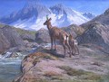 Chamois Mother and Baby - Rosa Bonheur