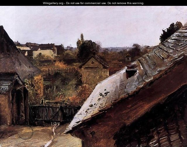 View of Rooftops and Gardens - Karl Blechen