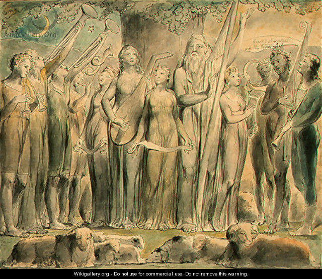 Job and His Family Restored to Prosperity - William Blake