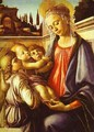 Madonna and Child with Two Angels - Sandro Botticelli (Alessandro Filipepi)
