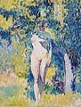 Nude in a Garden - Henri Edmond Cross