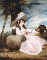 Miss Anna Ward with Her Dog - Sir Joshua Reynolds
