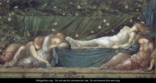 The Rose Bower - Sir Edward Coley Burne-Jones