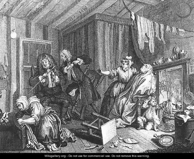 She Expires while the Doctors are disputing - William Hogarth