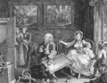 Quarrels with her Jew Protector - William Hogarth