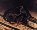 The Dog Rita Asleep - Frederic Bazille